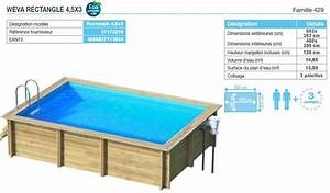 piscine hors sol bois rectangulaire 3m With piscine hors sol bois rectangulaire 3m