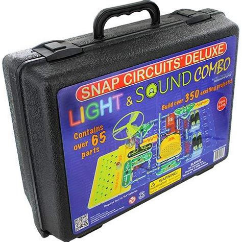 snap circuits light snap circuits sound light deluxe kit by xump