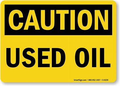 Sign Step Caution Oil Signs Waste Osha