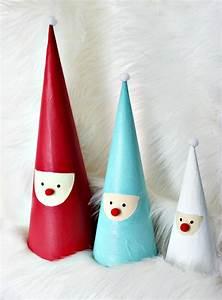 Weihnachtsmann Basteln Aus Pappe : nikolaus aus pappmache in form von kegeln weihnachten ~ Haus.voiturepedia.club Haus und Dekorationen