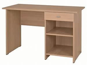 Bureau 60 Cm : table bureau rectangulaire morphea avec caisson ouvert droite 120 x 60 cm ~ Teatrodelosmanantiales.com Idées de Décoration