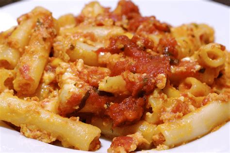baked ziti with baked ziti recipe dishmaps