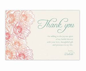 Bridal shower thank you cards wording 99 wedding ideas for Thank you notes for wedding shower