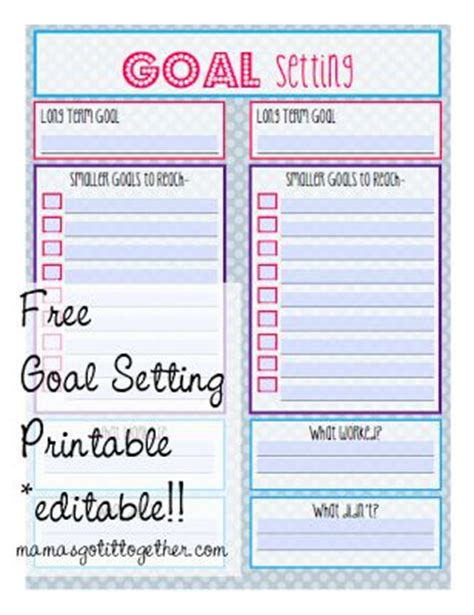 154 best images about tips goal setting on free printable personal goals and goals
