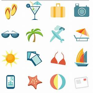 Travel Icons free vector | AI format free vector download ...