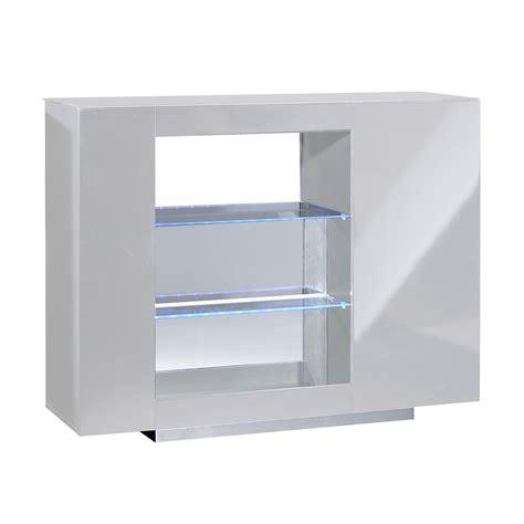 meuble de bar cuisine comptoir de bar laqué blanc à led kengo lestendances fr