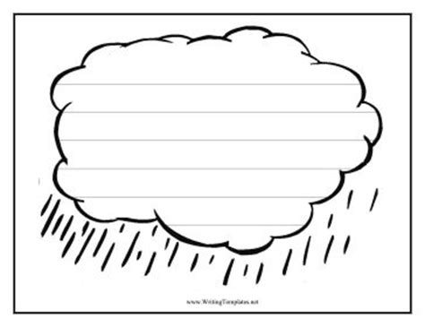 Cloud Template With Lines by Six Widely Spaced Handwriting Lines Are Featured On A