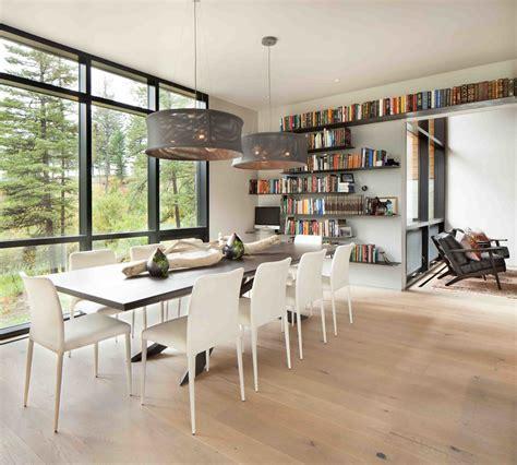 coin bureau dans salle a manger moderne maison rustique 224 l architecture et agencement cr 233 atif au montana vivons maison