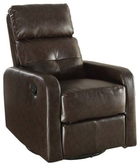 monarch leather swivel glider recliner brown recliner