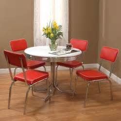 kitchen set furniture shop tms furniture retro 5 dining set with dining table at lowes com