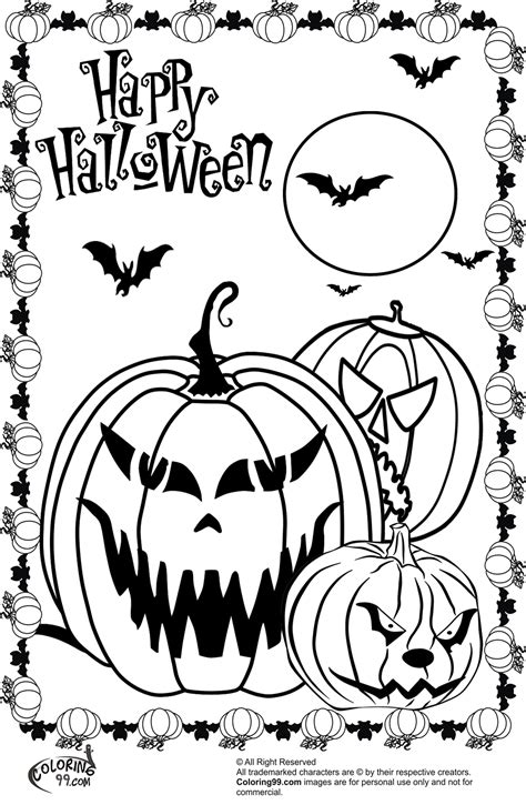 scary halloween pumpkin coloring pages team colors
