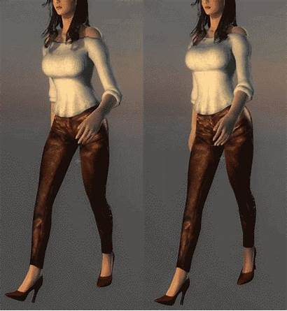 Walking Female Animation Walk Replacer Womans Move