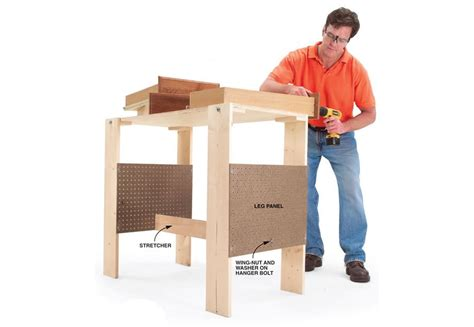 folding work table bench plans woodwork city