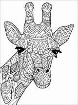 Giraffe Coloring Giraffes Adult Head Patterns Adults Mandala Justcolor Printable Animal Animals Sheets sketch template