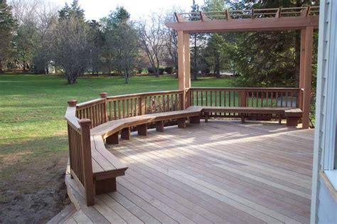 miscellaneous build a deck with wood fence how much does
