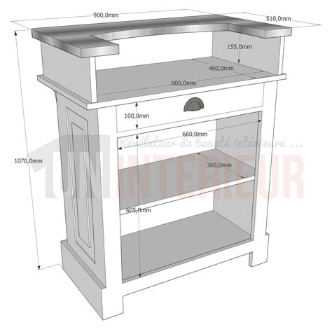 largeur comptoir bar meuble de bar en 90cm zinc pin massif
