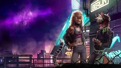 Furry Anthro Cyberpunk Shadowrun Musician Musical Concert