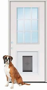 discount 2398quot 9 lite fiberglass prehung door unit with pet With steel dog door