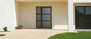 Porte d39entree bhautika semi vitree grosfillex for Porte d entrée vitrée