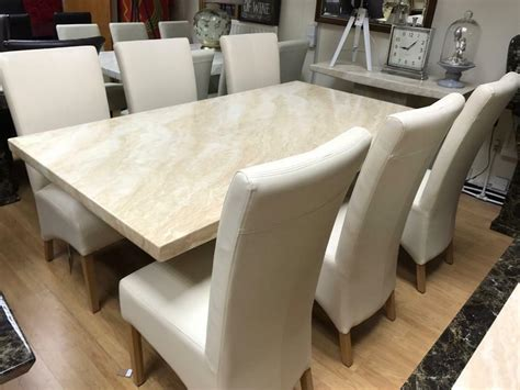 Marble Dining Table And Chairs by Beautiful Marble Dining Table And 6 Chairs In