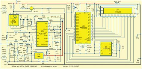 Energy Meter Circuit Detailed Project With Source Code