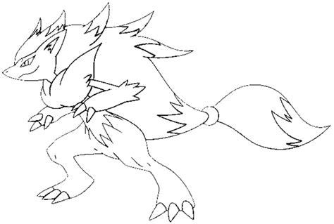 stampa disegno  zoroark da colorare