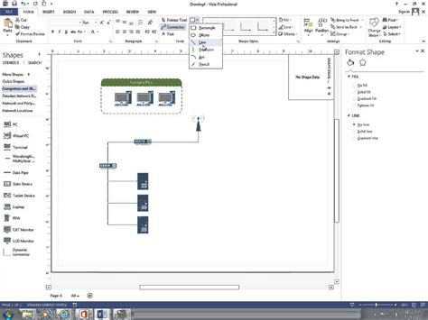 how to create a basic network diagram with visio 2013