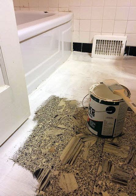 painting linoleum kitchen floor diy bathroom makeover how to paint linoleum flooring and 4048