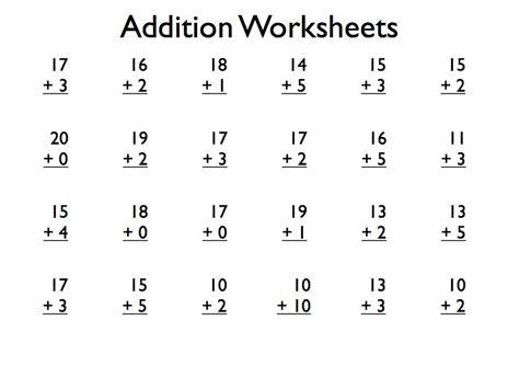 printable addition worksheets grade