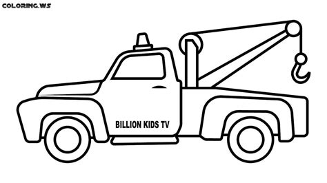 tow truck coloring pages  kids truck coloring pages