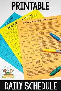 preschool daily schedule and visual schedules With preschool daily schedule template
