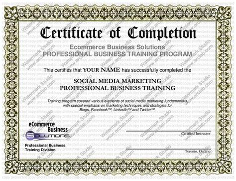 social media marketing certificate programs sle social media marketing certificate