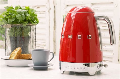 kettle smeg electric retro kettles kitchen temperature 50s hand blender variable cuppa perfect launches