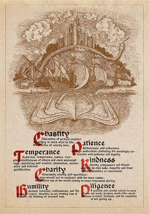 Seven Virtues On Behance