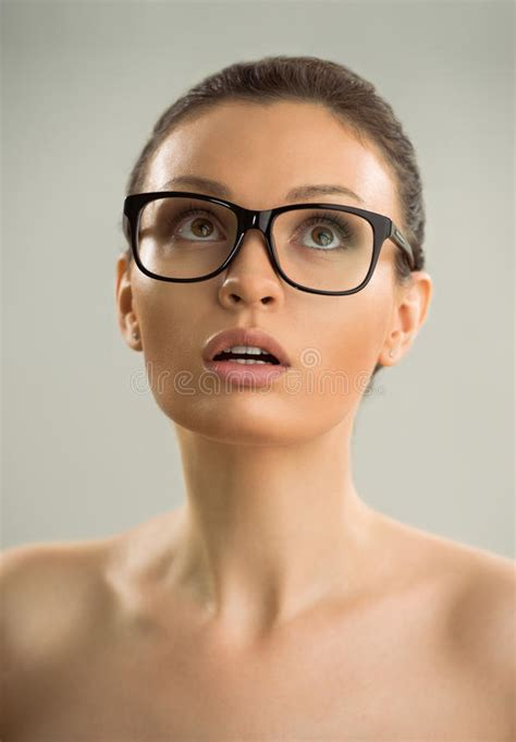 Hot Naked Woman Wearing Glasses Stock Photo Image Of