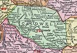 Caldwell County, North Carolina, 1911, Map, Rand McNally ...