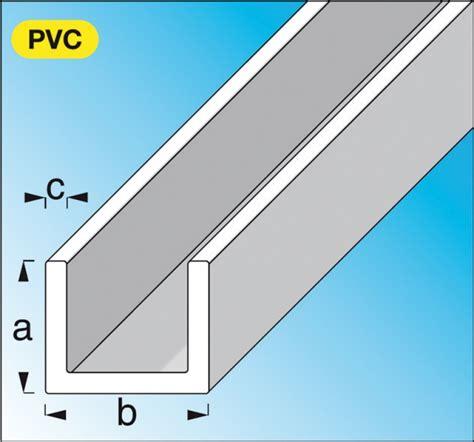 pvc u profil profil 233 u pvc rigide blanc dim 10x21 mm 233 p 1 mm lg 1 m