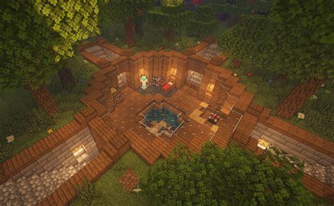cozy underground survival base design  minecraft minecraftbuilds