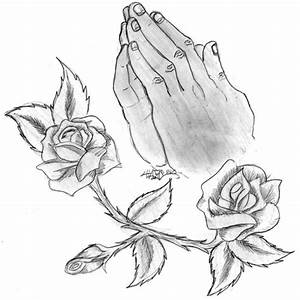 Praying hands with Rosery by Haze510 on DeviantArt