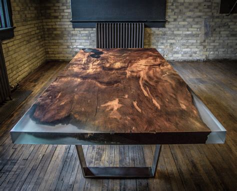 how to make a resin table top this dining table is carved from 4000 year old redwood burl