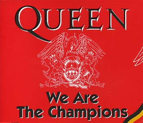 """Queen We Are The Champions  Withdrawn Belgian 5"""" Cd"""