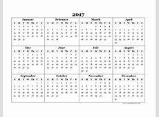 Yearly Calendar Template 2017 sanjonmotel