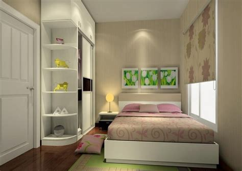 small bedroom white furniture design 3d house
