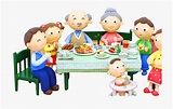 Library of 3 person dinner time svg free png files Clipart ...