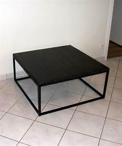 Table Bois Et Noir : table basse noir et bois petite table basse avec rangement ~ Dailycaller-alerts.com Idées de Décoration