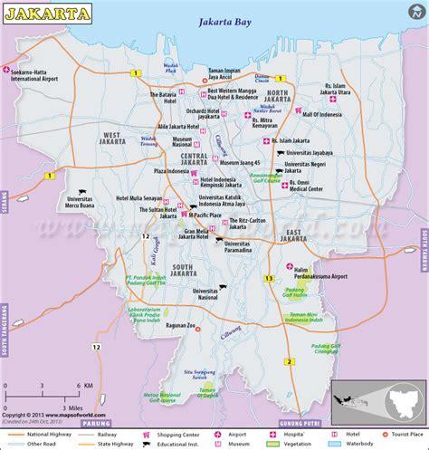 map  jakarta tourist travelquazcom
