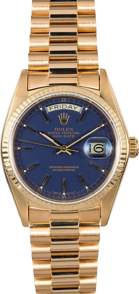 Rolex Presidential 18038 Day-Date 18K Yellow Gold