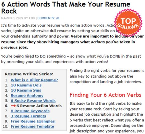 words for resume best template collection