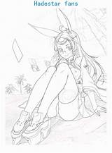 Coloring Hanako Kun Toilet Bound Drawing Popular Azur Lane Anime A5 sketch template