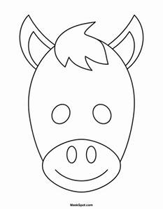 printable donkey mask With donkey face mask template